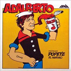 Adalberto Featuring Popeye El Marino – Fania Lps, Musica Salsa, Popeye The Sailor Man, Salsa Music, Latin Music, Mp3 Song, Entertaining, Songs, Cover