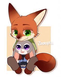 Nick Wilde cute and Judy Hopps cute ~ Zootopia