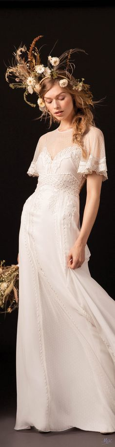 The new Temperley London wedding dresses have arrived! Take a look at what the latest bridal collection has in store for newly engaged brides. Chic Wedding Dresses, Wedding Dress Sleeves, Boho Wedding Dress, Bridal Dresses, Wedding Gowns, Wedding Shot, Wedding Music, Trendy Wedding, Wedding Reception