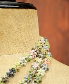 Sophie Digard / tiny linen necklace (CTI/GM/LIN/NRG) リネン・小花のネックレス | petiteparis