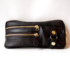 6 pocket Vigga clutch in black by valhallabrooklyn on Etsy, $109.00