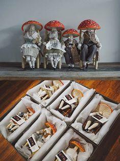 'Amanitas' mushroom dolls/sculptures by textile artist Yinyue Duzii, 2016.