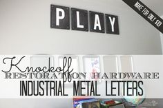 Free-printable-letters! Industrial subway letters...letters a-z and numbers 0-9.