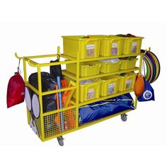 Sports Equipment Organizer | Complete School Sports Equipment Storage Trolley :: Sports Supports ...