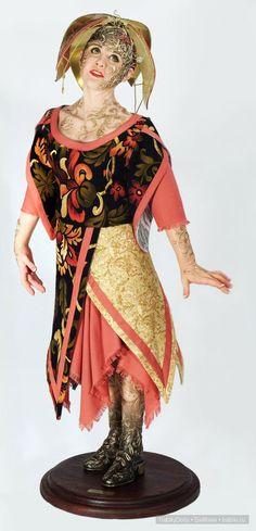 Хохлома - новая авторская кукла Наталии Зотовой / Авторская кукла известных дизайнеров / Бэйбики. Куклы фото. Одежда для кукол