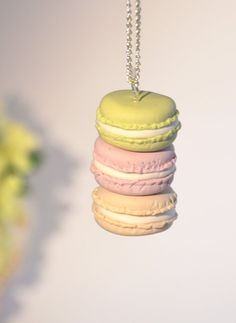Macaron Necklace   beautiful handmade polymer clay by ClayandClasp, $40.00 #averytickledchristmas