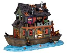 45666 - Haunted Houseboat, with 4.5v Adaptor - Lemax Spooky Town Houses