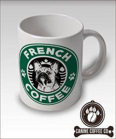 French Bulldog Coffee Mug  Starbucks Style  Free by CanineCoffeeCo