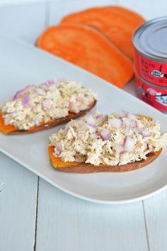 Süßkartoffel-Toast mit Tunfisch