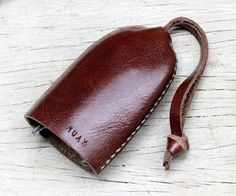 Bell keys holder/ Clay brown leather by SakatanLeather on Etsy, $15.00