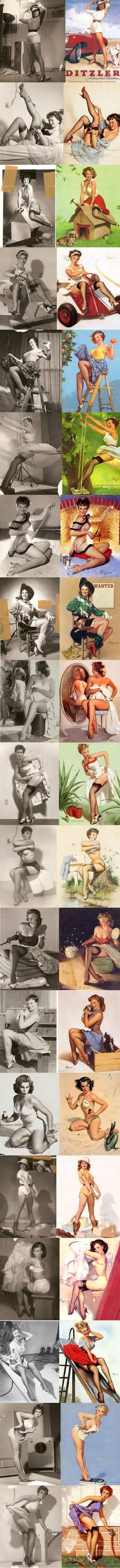 Pin-Up art and their models