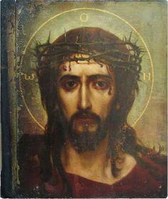 sherripage:  Viktor Vasnetsov, 'Savior in the Crown of Thorns', 1906.