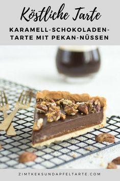 Köstliche Tarte mit Karamellkern und Schokol adenganache - perfekt zum Sonntagskaffee - einfaches Rezept auf dem Blog zum Backen - Karamell-Schokoladen-Tarte - caramel chocolate tart with pecans #Tarte #schokolade #Karamell