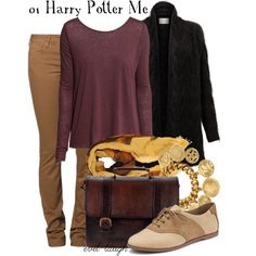 01 Harry Potter -- DMA Challenge by evil-laugh on Polyvore featuring H&M, EAST, CIMARRON, Sperry, Beara Beara, Ben-Amun, Contileoni, vintage and dmachallenge