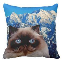Himalayan Cat Throw Pillow - decor gifts diy home & living cyo giftidea