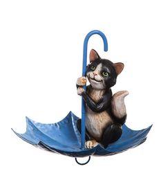 Look what I found on #zulily! Splish Splash Cat Bird Feeder #zulilyfinds