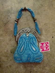Vintage 1940s Handmade Beaded Indian Purse by COSTUME204 on Etsy, $68.50