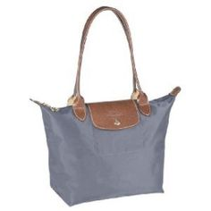 Longchamp Le Pliage Medium Tote Handbag Graphite.  The one I use all the time - the colour goes with everything, whether it's summer or winter.