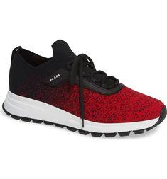 quality design 3a890 ec634 Prada Knit Sneaker (Men)   Nordstrom
