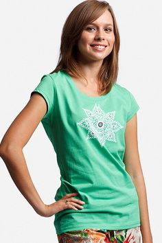 "Green Tee    The back says, ""Made With Hope In India By International Princess™ Project and Freeset™."" $25"