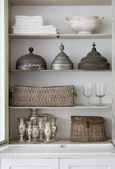 linen, tin, baskets, porcelain... from Skonahem