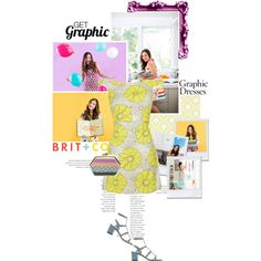 Get Graphic With Brit + Co. by biljanamilenkovic on Polyvore featuring polyvore, fashion, style, Topshop, Valentino, York Wallcoverings, Behance, contestentry and getgraphicwithbritco