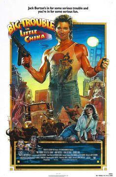 Golpe en la pequeña China (1986) de John Carpenter (http://ultracuerpos.com/fichas/golpe-pequena-china-1986-john-carpenter/) #pelicula #poster