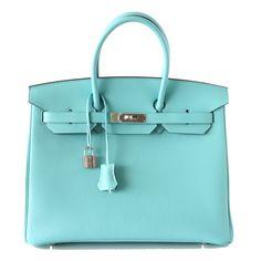 Hermes Birkin Bag 35 Bleu Atoll Palladium Hardware SO Fresh | World's Best #hermes
