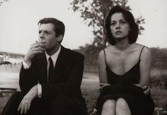Marcello Mastroianni et Jeanne Moreau, La Notte, Antonioni,1961
