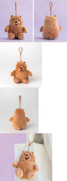 6e1c76e752b Key Chains 175524  We Bare Bears Grizz Sitting Dolls Plush Toy Bag Ring  Hook Accessories