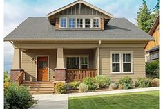 Simple, traditional bungalow plan.  Plan 461-31.