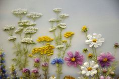 Wild flowers #ribbonEmbroidery