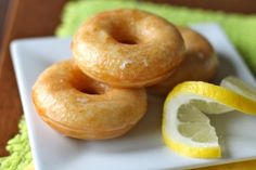 Cakey little donuts with a sweet and tangy glaze.