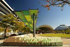 JacarandaSq_wall_edge_canopy_Kyal-Sheehan « Landscape Architecture Works | Landezine
