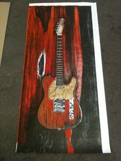 Gravure android#telecaster#rouge