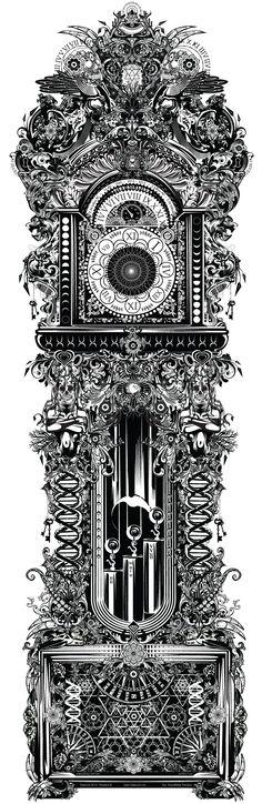 "Digital illustration: ""The GrandFather Paradox - Time Dilation"""