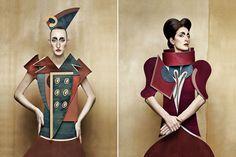 Dame di Cartone (Cardboard Ladies) by Swiss-Italian photographer Christian Tagliavini