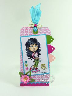 Latinas Arts and Crafts: Reto Tag + Combo de Colores Girl Birthday Cards, Hobby House, Latina, Cardmaking, Minnie Mouse, Arts And Crafts, Printables, Scrapbook, Tags