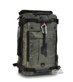 Nylon laptop backpack army green
