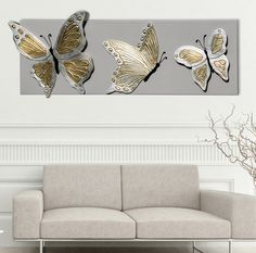 BUTTERFLIES DELUXE #quadro #quadri #pannelli #madeinitaly #paintings #pictures #pintdecor #canvas