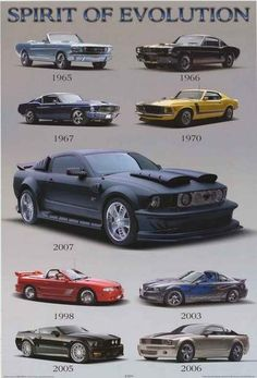 Ford Mustang Spirit of Evolution Poster 24x36 – BananaRoad