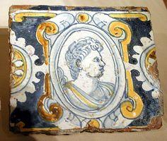 Wall Tile; Seville, Spain; tin enameled earthenware, 17th century