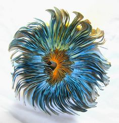 Book sculpture-sea anemone