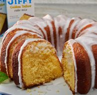 "Lemon Bundt Cake made with ""JIFFY"" Golden Yellow Cake Mix. A wonderful treat. Lemon Bundt Cake, Lemon Cake Mixes, Yellow Cake Mixes, Bundt Cakes, Jiffy Mix Recipes, Cake Mix Recipes, Dessert Recipes, Cake Mix Desserts, Apple Cinnamon Muffins"