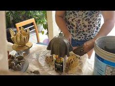 Vasos de tecido é cimento para decoração - YouTube