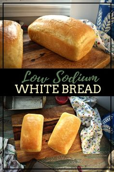 Low Sodium White Bread Source by Low Sodium Bread, No Sodium Foods, Low Sodium Diet, Low Sodium Recipes, Cholesterol Diet, Low Sodium Meals, Sodium Free Bread Recipe, Salt Free Bread Recipe, Low Sodium Biscuit Recipe