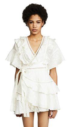 acler basque ruffle dress size 6