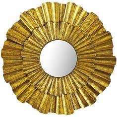 Golden Wave Mini Mirror