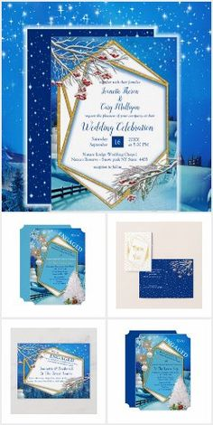 Wedding Scene, Wedding Frames, Winter Holidays, Christmas Holidays, Wedding Posters, Thank You Postcards, Christmas Party Invitations, Bride Accessories, Bridal Shower Invitations