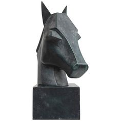 French 1930 Horse Sculpture, circa 1930 1
